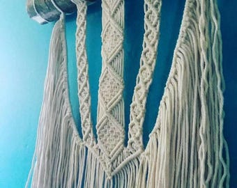Handmade Marcrame Wall Hanging 100% Cotton