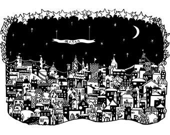 Secret Fairytale Village - A4 Print