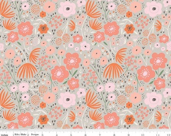 Ava Rose - Floral Gray by Deena Rutter from Riley Blake