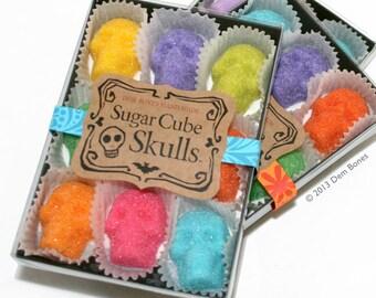 Edible SUGAR SKULLS make perfect Skull Gifts // Day of the Dead // DemBones Sugar Cube Skulls  // Dia De Los Muertos Colors