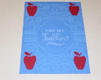For My Teacher Card