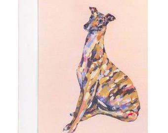Greyhound Card, Puppy Card, Birthday Card, Birthday Card Boyfriend, Greeting Cards, Cards, Dog Lover Card, Dog Lover Gift, Greyhound