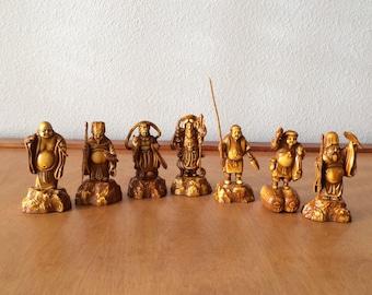 "Chinese Immortal Figurines - Hard Plastic 3"" Tall - Prosperity Figurine"