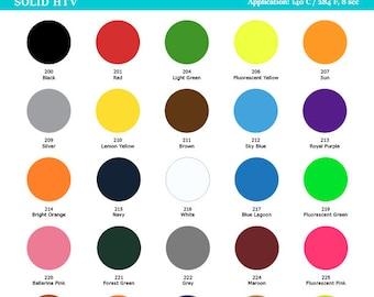 Heat Transfer Vinyl, Solid Colors, Iron On, T shirt decoration