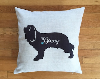 DOG LOVE Custom Pillow, Personalized Pillow, Toss Pillow, Dog Pillow, Home Decor Pillow