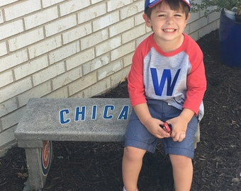 Fly the W Childrens Raglan Shirt