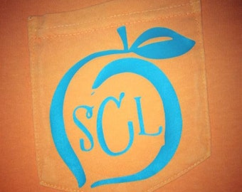Monogram Peach  Shirt