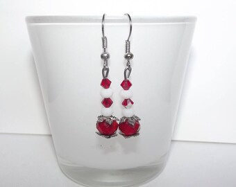 Swarovski red earrings.