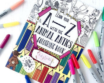 colouring book-animals-coloring book-adult coloring book-adult colouring book-coloring pages-alphabet book-animal book-children's book-kids