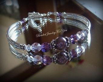 Bridesmaid Set Of FOUR: Pearl Bridesmaid Bracelet, Wedding Jewelry, Bridesmaid gift, Wedding Party, Bridesmaid Jewelry, Wedding Bracelet