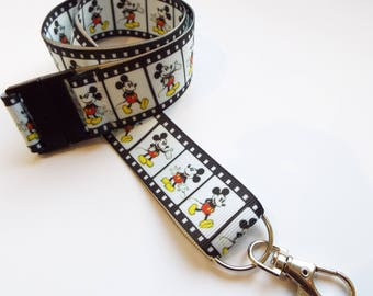 Mickey Mouse - Handmade Ribbon Lanyard/ Keychain/ ID Holder/ Phone/ Whistle/ Teacher Gift