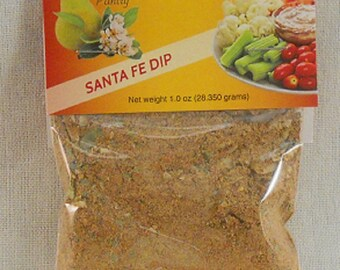 Santa Fe Dip Mix and Seasoning Appetizers Party Snacks Wedding Favors Game Night Snacks