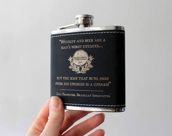 Flask | WHISKEY quote design