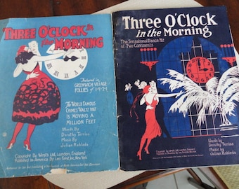 Three O'Clock in the Morning original sheet music 1920s