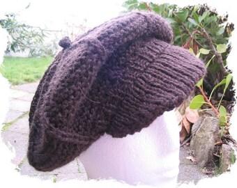 Newsboy Cap and Beret knitting pattern - PDF knitting pattern