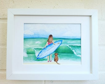 Surf art,  beach decor, surf print, surf gifts, home decor, wall decor, gift for her, birthday gift