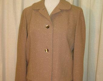 Woman's 1950's Flecked Mocha Suit