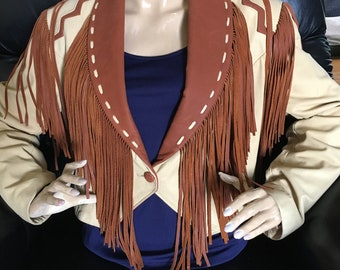 Vintage Lariat Leather Cowgirl Jacket Made USA