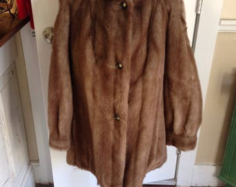 60's Lilli Ann faux fur swing coat