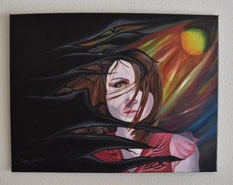 Original Acrylic Painting, From Deep Within by Bethany Gonzalez
