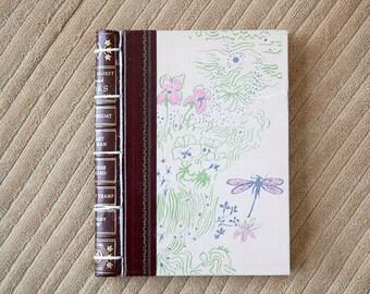 pink vintage hand made journal // hard bound journal