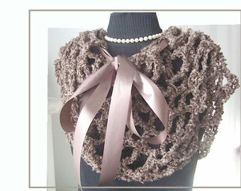 Crochet PATTERN,   Capelet, Shawl, Cowl, Collar... make it any size, instant download -num 111,