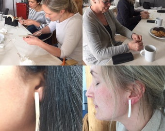 Silversmithing workshop: Earrings Wednesday 9th May 10-12.30
