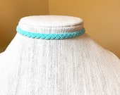 Aqua Green Choker, Adjust...