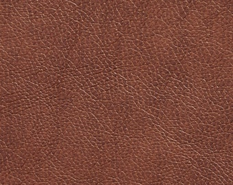 Brown Breathable Leather Look And Feel Upholstery By The Yard   Pattern # G425