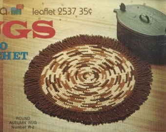Crocheted Rug Pattern  R2  PDF - Fun for the Winter