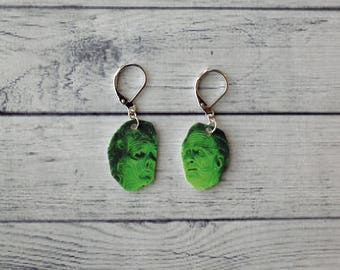 Beetlejuice Inspired Earrings Maitlands Inspired Earrings Horror Earrings Creepy Earrings Fun Gift Gothic Gift Durable Wearable Art