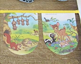 Bambi Nursery Bunting Birthday Party - Disney Little Golden Book Decor Homewares - For Children Kids Supplies Decoration Banner Garland