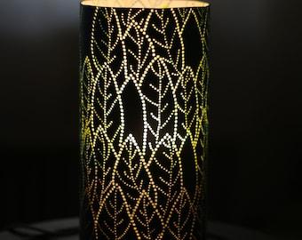 Leaf pattern Bedroom accent lamp handcarved led light
