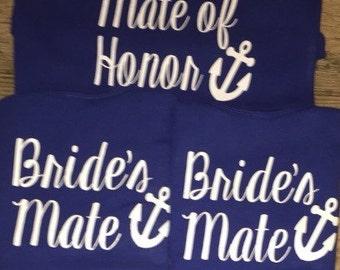 Nautical bridal iron on decals