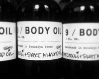 Body Oil.  Custom blended.
