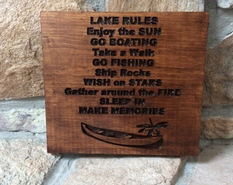 Lake Rules - custom made, personalized