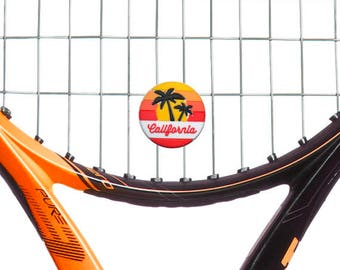 Oversized California Beach Scene Tennis Racquet Vibration Dampener by Racket Expressions, Comes as a 2 Pack