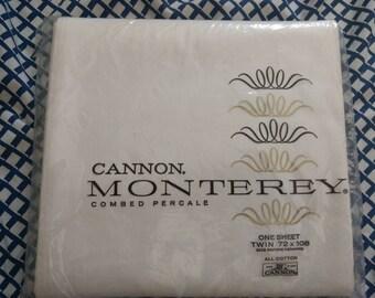 NIP Cannon Monticello Twin Flat Percale Sheet