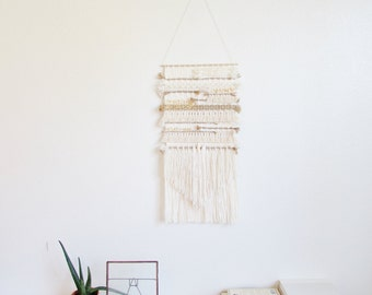 Weaving wall hanging/ handmade wall hanging art tapestry/Minimalist art