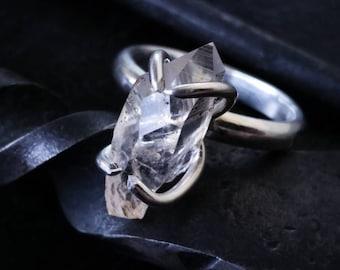 Custom Quartz Crystal Sterling Silver Ring
