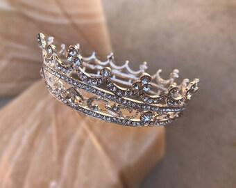 CAROLINE Tiara Swarovski Crystals, Luxury Wedding Crown, Hair Accessories, Rhinestone Tiara, Full Crown, Vintage, Pageant Crown, Crystal