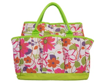 Garden Tool Tote Bag, Mother's Day Gift, Gardening Gift, Garden Tote Bag, Floral Tote Bag