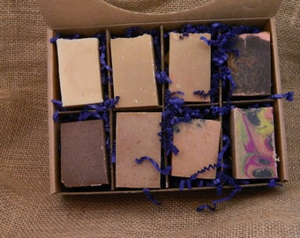 Goats Milk Soaps Sampler Family or Couples Gift Box 5