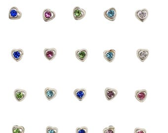 Nose Jewelry • Nose Ring • Nose Stud • Nose Pin • Nose Ring Stud • Nose Piercing • Ready For a Cute Nose • Sterling Silver Heart