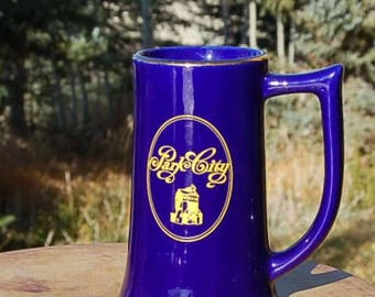 Park City Utah Mug Stein Coabalt Gold