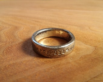 Rustic pewter ring. parsonalaised hand stamp.