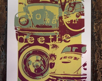 Slug Bug Screenprint