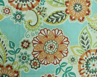 Seafoam Vintage Floral  Printed Pattern on 45'' Cotton Canvas Fabric by the Yard - Style 3226
