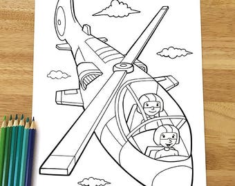 Cute Military Helicopter Coloring Page! Downloadable PDF file!