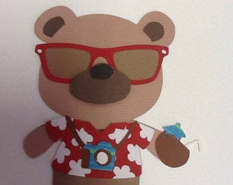 Cricut Die Cut Teddy Bear Parade Tourist